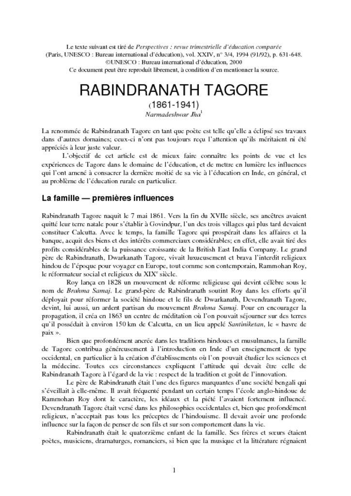 thumbnail of Présentation UNESCO Tagore