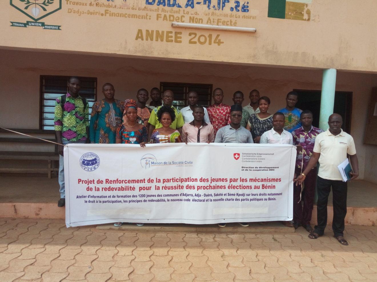 Le CAEB en action avec les jeunes pour des élections apaisées au Bénin